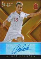 2015 Panini Select Soccer 'Select Signatures' Serial Numbered - Silver & Orange