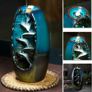 70pc Incense Cones 6 Scent Smoke Cone with Ceramic Incence Burner Backflow Smoke