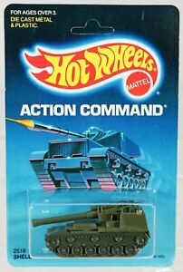 Hot Wheels Shell Shocker Action Command Series #2518 New NRFP 1986 Olive 1:64