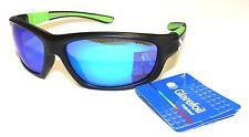 Glarefoil Men Polarised Sunglasses Sports Cycling Fit Black Blue Revo Gilchrist
