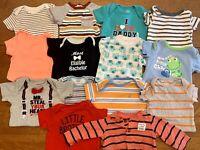 HUGE 3-6 Months Baby Boy Clothes Lot Nautica Gerber Onesies Tops Shirts Summer
