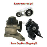 Engine Motor Mount Set 3PCS. with Bracket for 2007-2012 Mazda CX-7 2.3L, 2.5L