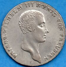 Germany Prussia 1814 A Thaler Silver Coin - Gorgeous Detail!
