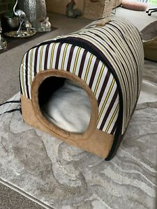 GORGEOUS PET IGLOO CAVE CARRY HOUSE 2 In 1 PET BED FOLDING WITH TOY NEW Sz Large