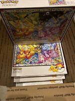 4 - Pokemon - Eevee's Stained Glass - 2000 Piece Jigsaw - Lot Of 4 Puzzles! 📈