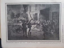 A PAGE WW1 THE WAR ILLUSTRATED  1915 - FIXED BAYONET CHARGE BY BRITISH ARMY
