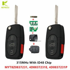 Pair Replacement Remote Car Keyless Key Fob for Audi A4 A6 A8 Allroad Quattro