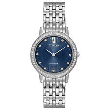 -NEW- Citizen Ladies Silhouette Crystal Eco-Drive Watch EX1480-58L