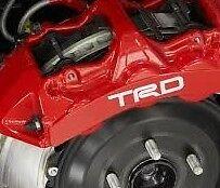 TRD CALIPER DECALS * tacoma corolla camry matrix tundra ... Set of 4 - HI TEMP