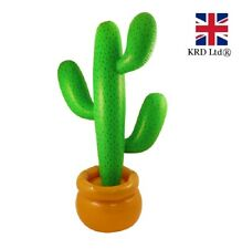 3ft INFLATABLE CACTUS Tree Blow Up Luau Hawaiian Mexican Wild West Party 86cm UK