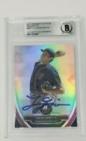 Lucas Giolito  2013 Bowman Chrome Platinum Prospects Signed Card Beckett