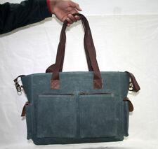 Men's & Women's Canvas Cross Body Shoulder Vintage Satchel Computer School Bag