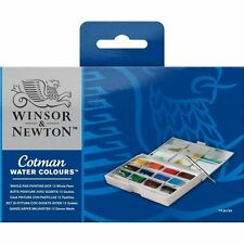 Winsor and Newton Cotman Watercolour Whole Pan Painting Box - 12 Whole Pans