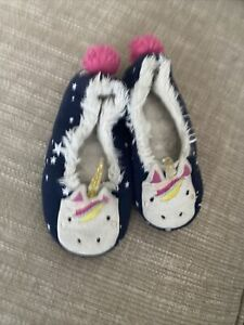 Girls Unicorn Slippers From Houles Infany Size 10-11