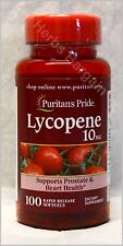 Puritan's Pride Lycopene 10 mg 100 Softgels New Sealed Free Shipping