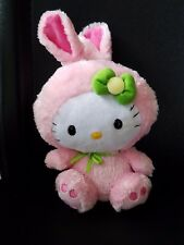 """Hello Kitty Pink Bunny Suit TY Beanie Babies Original Baby Doll Sanrio 8""""H"""