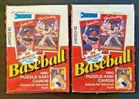 1990 Donruss Baseball - Factory Sealed Box Lot of 2! - Griffey Nolan Error