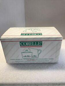 1995 Corelle Christmas Winter Holly Sugar & Creamer Set NOB