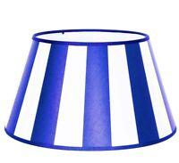 Lampenschirm oval hellblau weiß gestreift Du26/Do21/H17 E27 Chintz Tischlampe