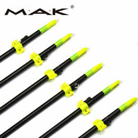 3/6/12pcs 8mm  Bowfishing Arrows Fishing Arrows Safety Slides Hunting Brand New