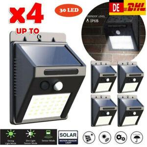 4 Stk LED Solarlampe Solarleuchte Gartenlicht Außen-Beleuchtung Schattenlaterne