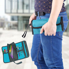 Hardware Tool Screwdriver Spanner Roll Up Storage Case Pouch Electrician Bag