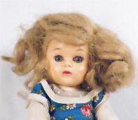 Vintage Pam Hard Plastic Doll by Fortune Dolls Walker Blue Print Jumper Sweet