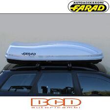 FARAD - BOX BAULE PORTAPACCHI F3 N7 680LT GRIGIO METALLIZZATO  PORTABAGAGLI AUTO