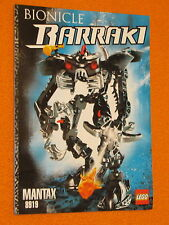 Lego Set 8919 INSTRUCTIONS ONLY Bionicle Barraki Mantax Manual Booklet Book