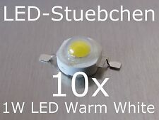 10x 1W High-Power LED Emitter Warmweiss 350mA