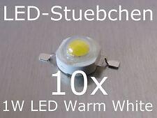 10x 1W High-Power LED Emitter Warmweiss 350mA