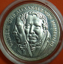 GERMANY 5 MARK UNC SILVER COIN 1967 F HUMBOLDT RARE NO RESERVE