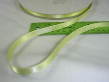 "300' LIGHT YELLOW DOUBLE FACED SATIN RIBBON 3/8"" BULK WHOLESALE LOT"