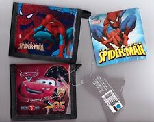 2 NEW WALLETS  1  IS SPIDER MAN THE OTHER IS  CARS .