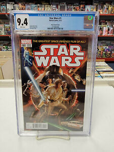 STAR WARS #1 Alex Ross Variant (Marvel, 2015) CGC Graded 9.4 ~ White Pages