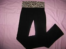 Victoria's Secret Foldover Yoga Pants NWT Small/Long BLING
