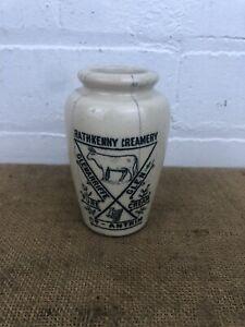 Irish Stoneware Cream Pot - Rathkenny Creamery, Glenariff, Northern Ireland