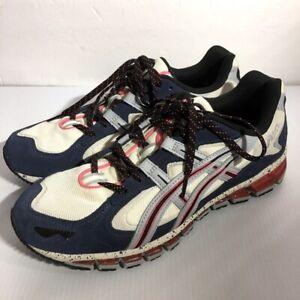 Asics GEL-Kayano 5 360 Cream Grey Blue Red Men Vintage Casual Shoes Sneakers 10