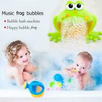 Baby Big Frogs Automatic Bubble Maker Blower Toy Music Bathtub Soap Machine