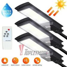 990000LM Solar Street Light LED Commercial Dusk-to-Dawn Area Road Lamp IP67+Pole