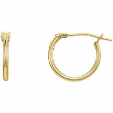 14kt Yellow Gold 11.7mm Hoop Earring
