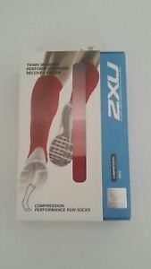 ZXU Recovery Compression Performance Run Socks ~  MA2442e Large Women's Red