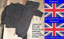 1:6 MINIATURE SWAT / SAS / BLACK OPS / TACTICAL POLICE OPERATIONS FULL UNIFORM