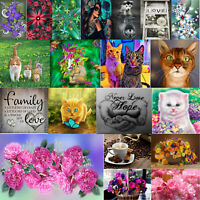 Full Drill DIY Flowers Animal 5D Diamond Painting Embroidery Cross Stitch Decor