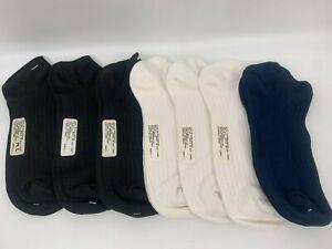 7 pr Women's No Show Micromodal Socks - Low Cut - Black, Navy, White  9-11
