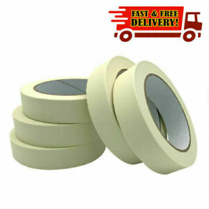 2x or 4x  MASKING TAPE 24MM x 50M INDOOR OUTDOOR DIY PAINTING DECORATING MARKING