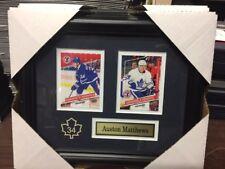 Auston Matthews Toronto Maple Leafs NHL Museum framed 2 cards