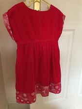 5yrs girl red dress