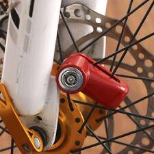 Set Rouge Disque Frein Antivol Bloque Bloc Serrure Moto Scooter Vélo + 2 Clés NF