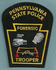 PENNSYLVANIA STATE TROOPER POLICE CSI FORENSICS CRIME SCENE INVESTIGATOR PATCH